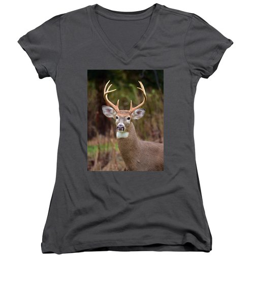 Eight Points Of Awesome Women's V-Neck T-Shirt (Junior Cut)