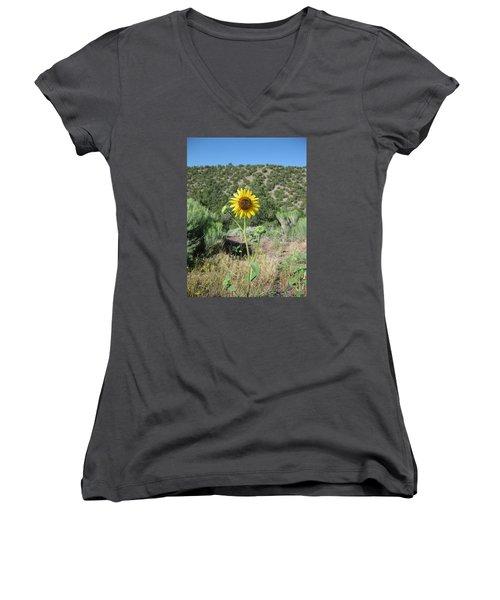 Elated Sunflower Women's V-Neck