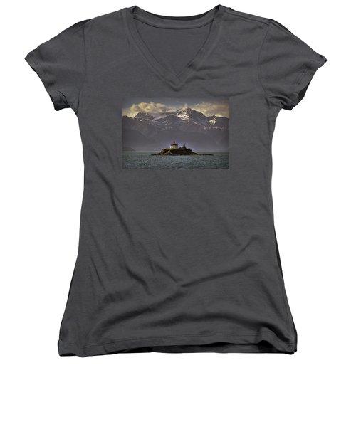 Eldred Rock Lighthouse Alaska Women's V-Neck