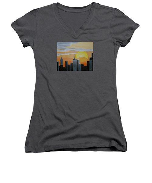 Elipse At Sunrise Women's V-Neck T-Shirt