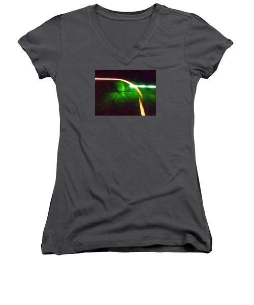 Emerald Fusion Women's V-Neck T-Shirt