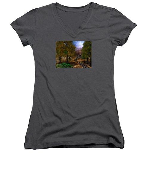 Emergence Women's V-Neck T-Shirt (Junior Cut) by Shari Nees
