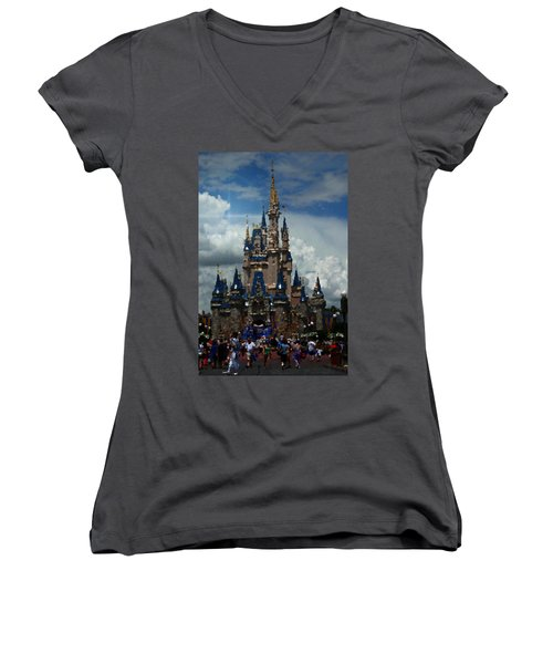Enchanted Castle Women's V-Neck (Athletic Fit)