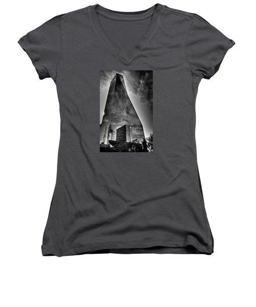 Enormous Women's V-Neck T-Shirt (Junior Cut) by Mark Alder