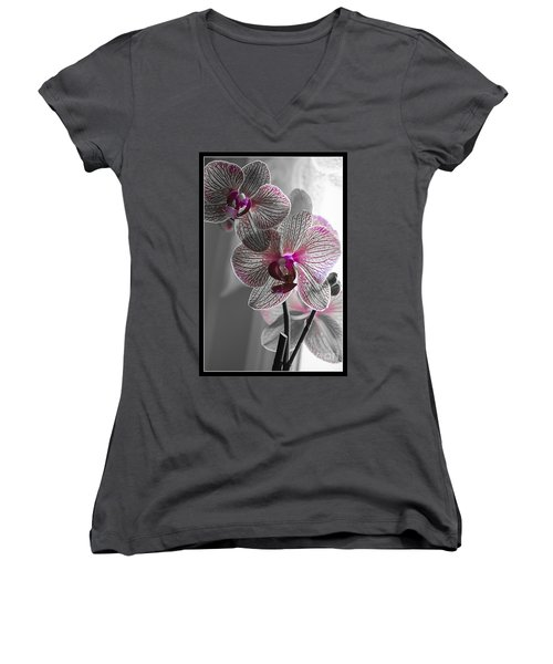 Ethereal Orchid Women's V-Neck T-Shirt