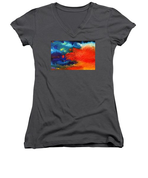 Evening Glow Women's V-Neck T-Shirt