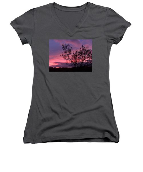 Evening Sunset Women's V-Neck (Athletic Fit)