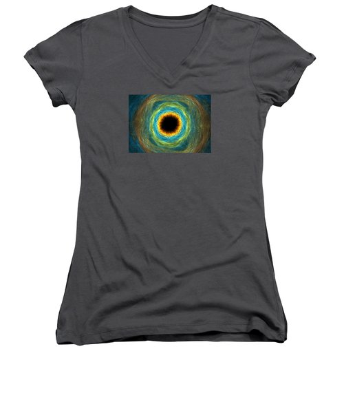 Eye Iris Women's V-Neck (Athletic Fit)