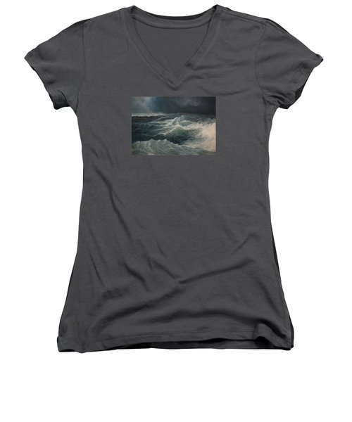 Eye Of Storm Women's V-Neck T-Shirt