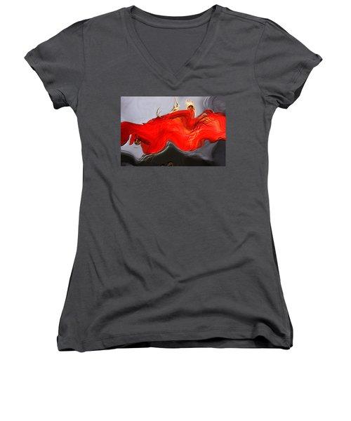 Women's V-Neck T-Shirt (Junior Cut) featuring the digital art Eye Of The Beholder by Richard Thomas