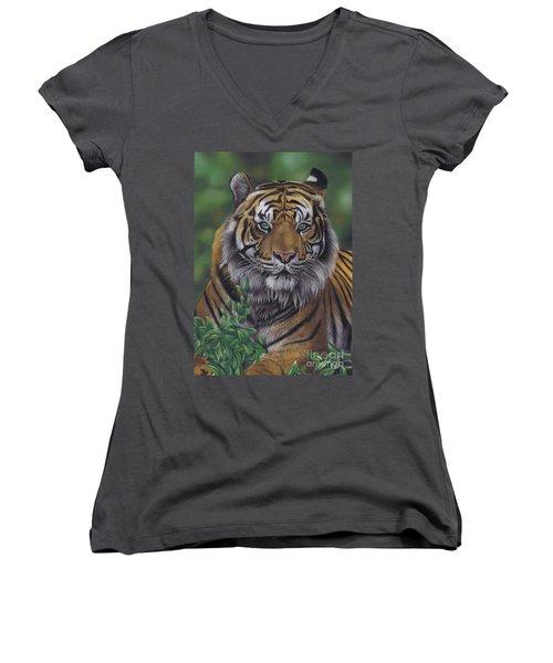 Eye Of The Tiger Women's V-Neck