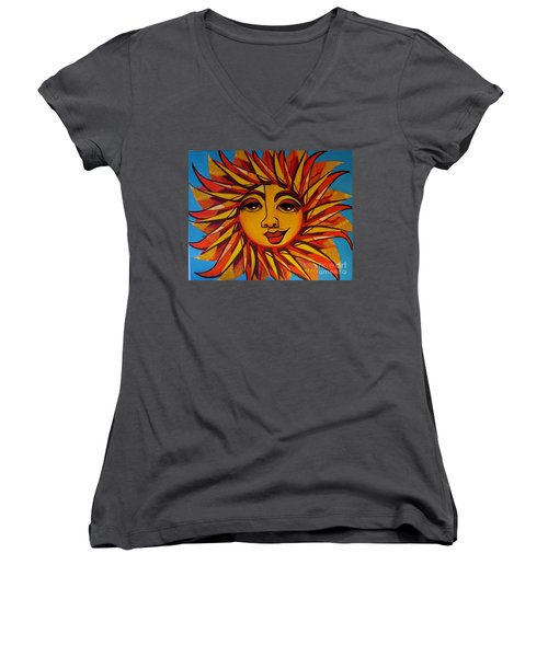 Fabulous Fanny - Here Comes The Sun Women's V-Neck (Athletic Fit)
