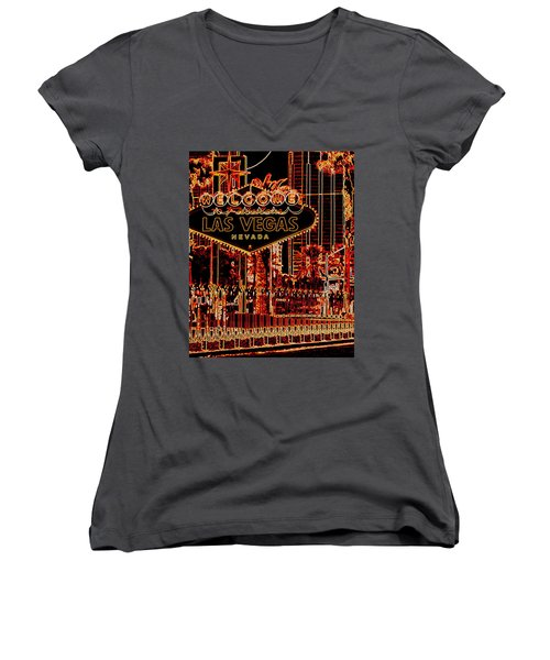 Fabulous Las Vegas Women's V-Neck T-Shirt