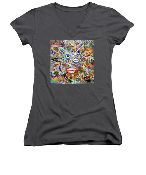 Faces In Life - Just Smile Women's V-Neck