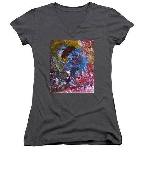 Facing Demons Women's V-Neck T-Shirt
