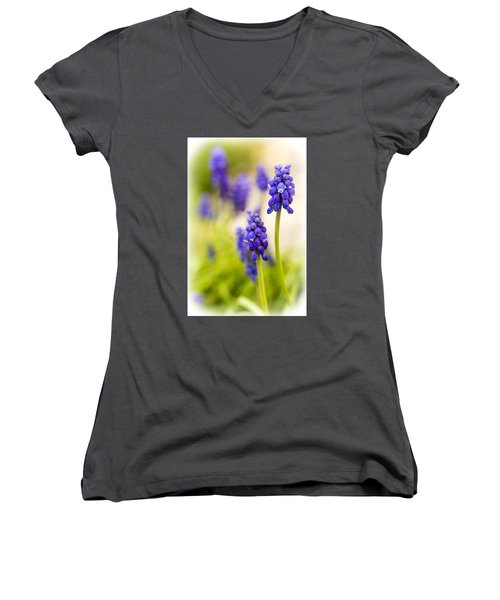 Women's V-Neck T-Shirt (Junior Cut) featuring the photograph Fading by Caitlyn  Grasso