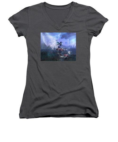 Faerie Women's V-Neck T-Shirt