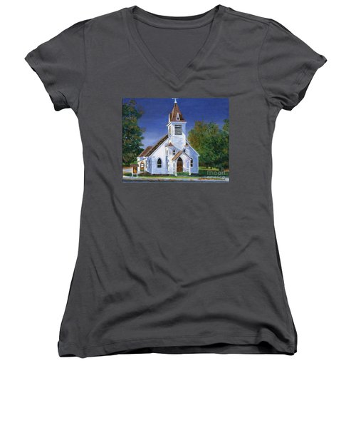 Fall Church Women's V-Neck (Athletic Fit)