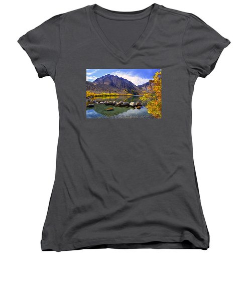 Fall Colors At Convict Lake  Women's V-Neck