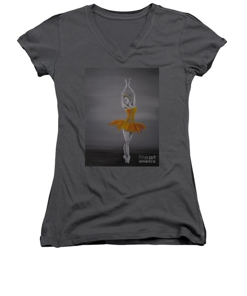 Fall Dancer 2 Women's V-Neck T-Shirt