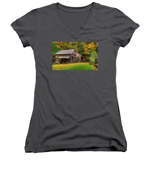 Fall Down On The Farm Women's V-Neck