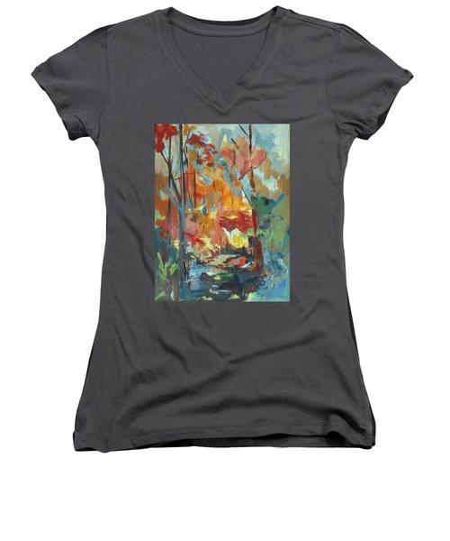 Fall From My Window Women's V-Neck (Athletic Fit)