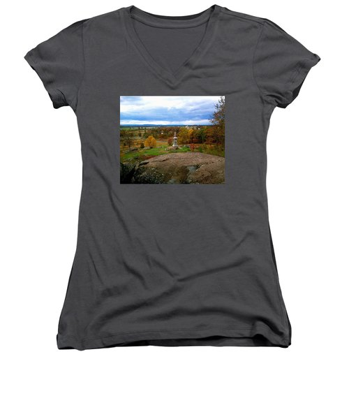 Fall In Gettysburg Women's V-Neck (Athletic Fit)