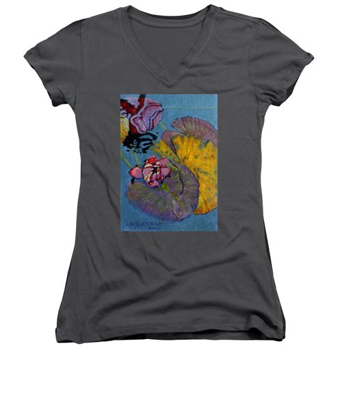 Fall Lily Women's V-Neck (Athletic Fit)