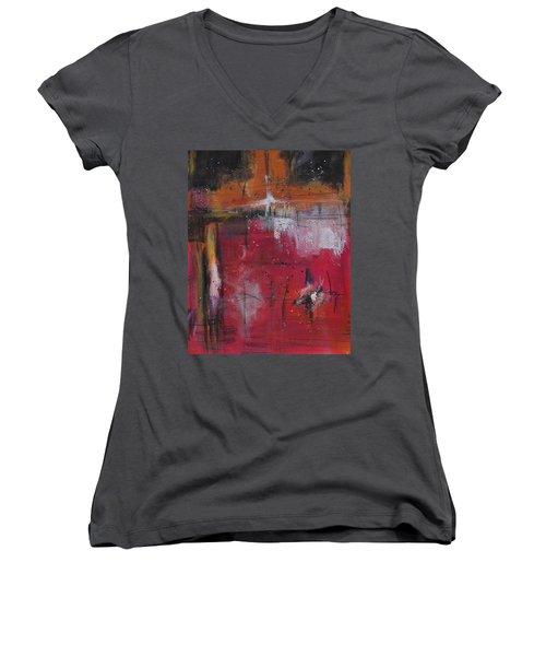 Fall Women's V-Neck T-Shirt (Junior Cut) by Nicole Nadeau