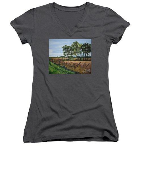 Fall On Douglas Road Women's V-Neck T-Shirt