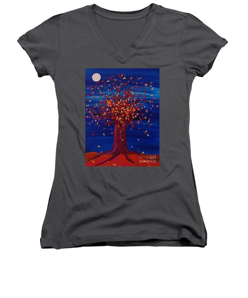Fall Tree Fantasy By Jrr Women's V-Neck (Athletic Fit)