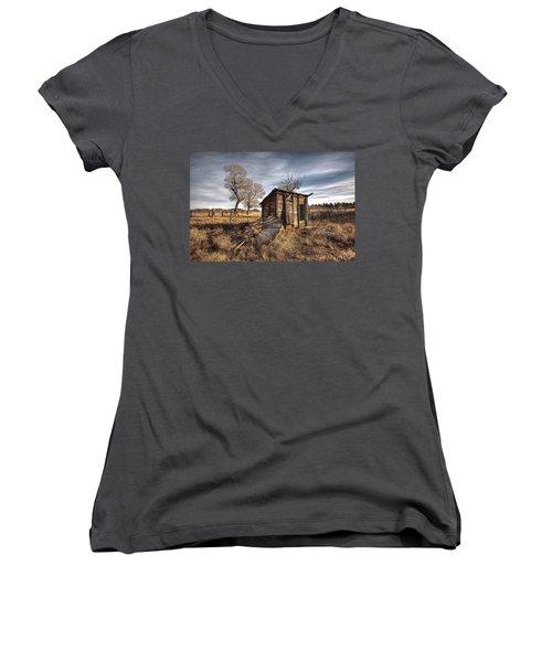 Fallen Windmill Women's V-Neck T-Shirt