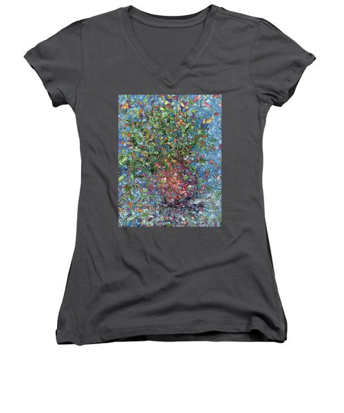 Falling Flowers Women's V-Neck