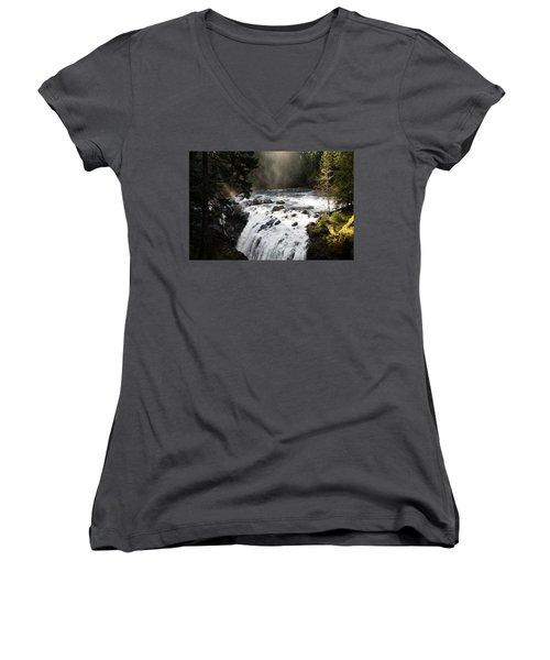 Waterfall Magic Women's V-Neck T-Shirt