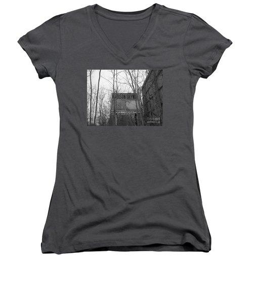 Women's V-Neck T-Shirt (Junior Cut) featuring the photograph Family Night  by Michael Krek