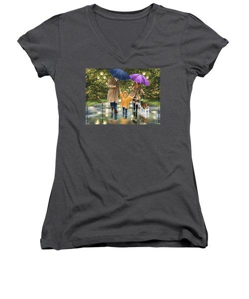 Family Women's V-Neck T-Shirt (Junior Cut) by Veronica Minozzi