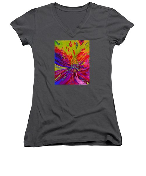 Fantasy Women's V-Neck T-Shirt (Junior Cut) by Loredana Messina