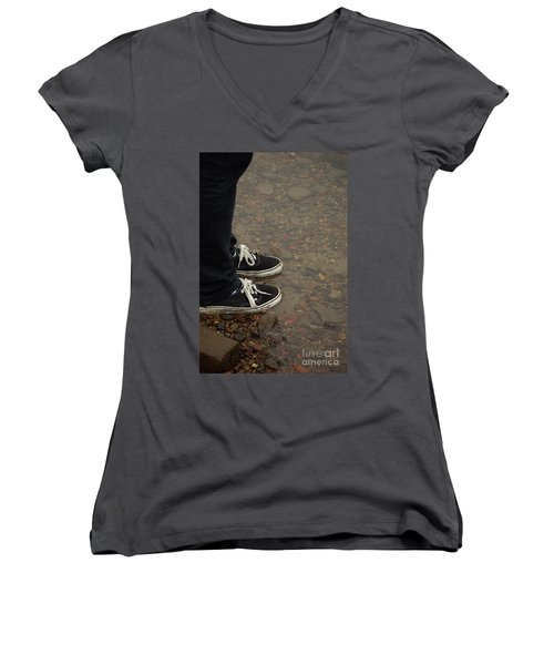 Fashion Meets Nature Women's V-Neck (Athletic Fit)