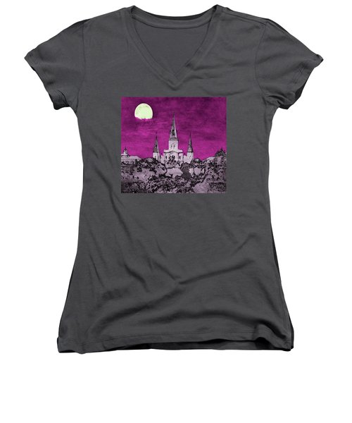 Fat Tuesday Eve Women's V-Neck (Athletic Fit)
