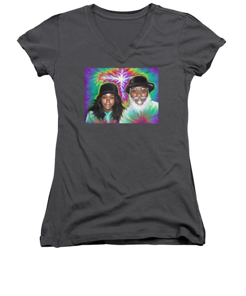 Father And Daughter Spirit Ministry  Women's V-Neck