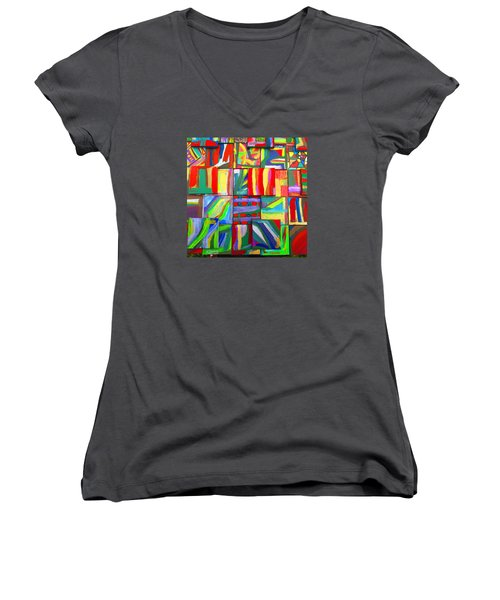 Feast Of Minis 03 Women's V-Neck (Athletic Fit)