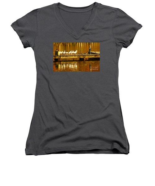 Feed Us Women's V-Neck T-Shirt