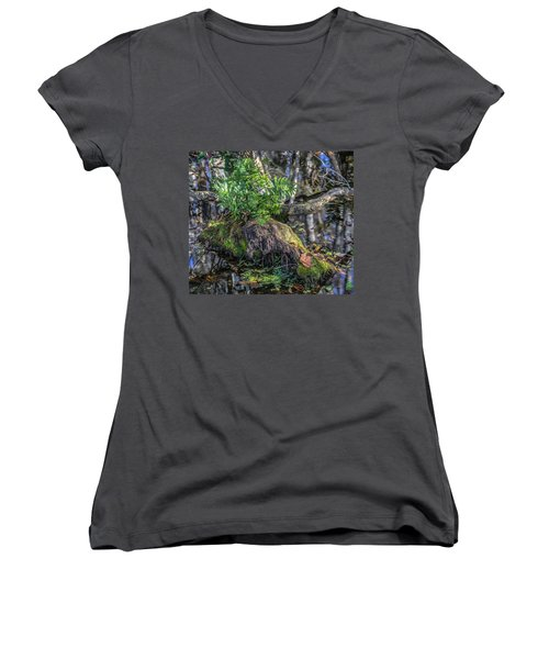 Fern In The Swamp Women's V-Neck T-Shirt
