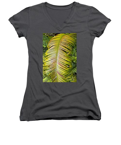 Women's V-Neck T-Shirt (Junior Cut) featuring the photograph Ferns by Kate Brown