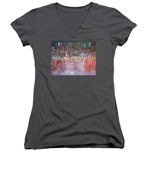 Ferris Wheel Fun - Sold Women's V-Neck T-Shirt