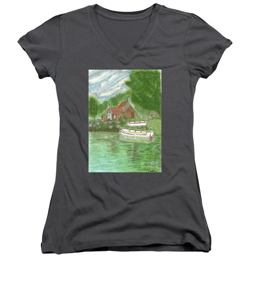 Ferryman's Cottage Women's V-Neck (Athletic Fit)