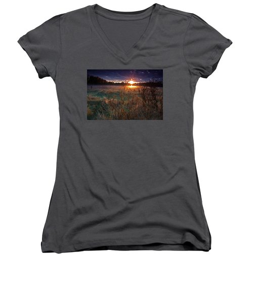Field Of Dreams Women's V-Neck T-Shirt
