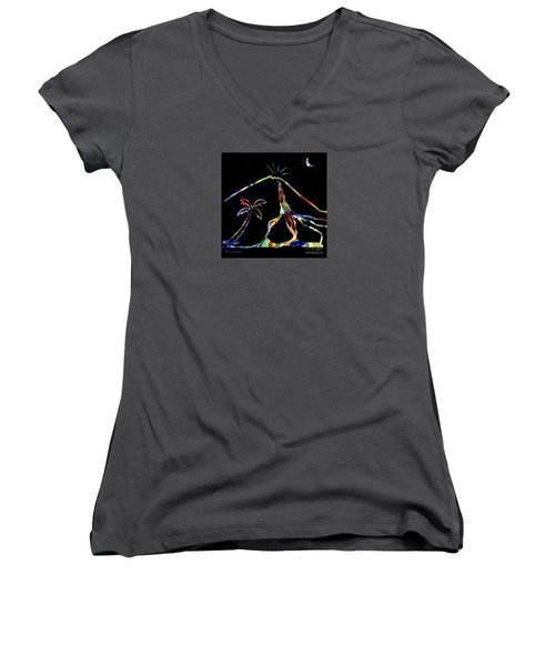 Lava Flow Women's V-Neck