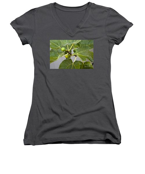 Figalicious Women's V-Neck T-Shirt (Junior Cut) by David Millenheft