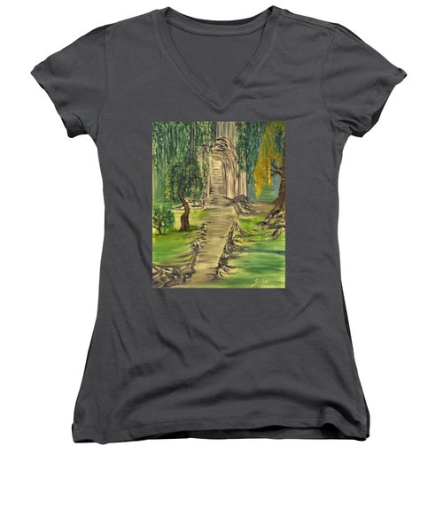 Finding Our Path Women's V-Neck (Athletic Fit)